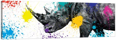 Rhino Portrait V Canvas Art Print