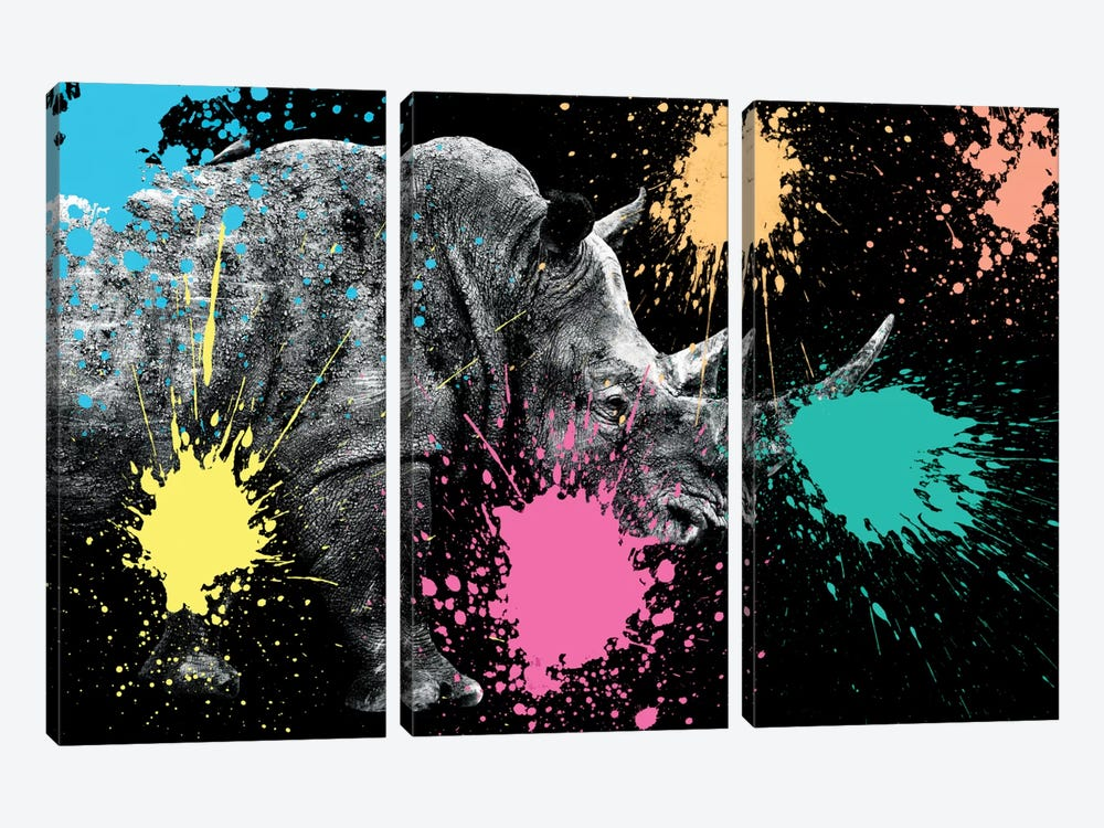 Rhino Portrait VIII by Philippe Hugonnard 3-piece Canvas Print