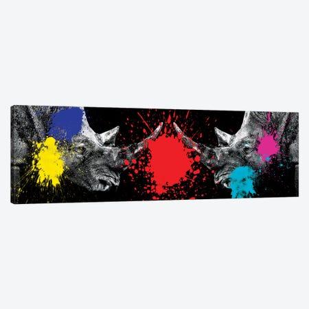 Rhinos Face to Face Canvas Print #PHD243} by Philippe Hugonnard Canvas Artwork