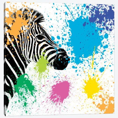 Zebra Canvas Print #PHD245} by Philippe Hugonnard Canvas Print