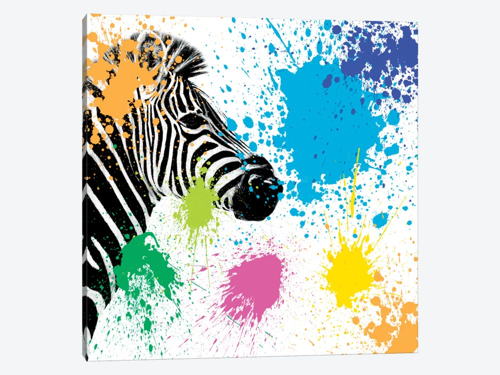 Safari Color Pop Series: Zebra by Philippe Hugonnard 1-piece Canvas Artwork