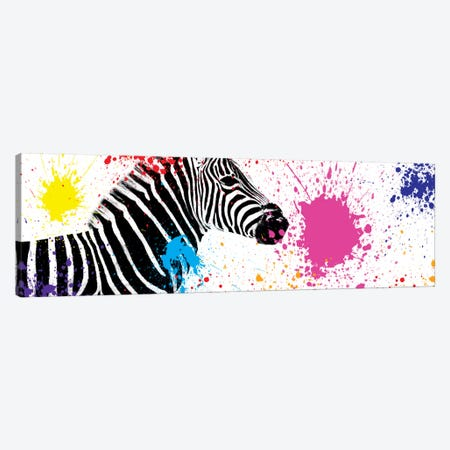 Zebra VII Canvas Print #PHD249} by Philippe Hugonnard Canvas Wall Art