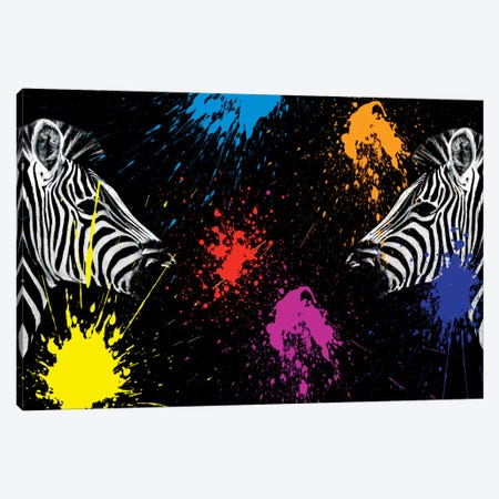 Zebras Face to Face II Canvas Print #PHD250} by Philippe Hugonnard Canvas Print