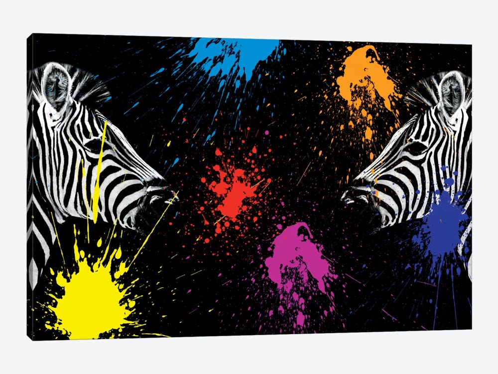 Zebras Face to Face II by Philippe Hugonnard 1-piece Canvas Art