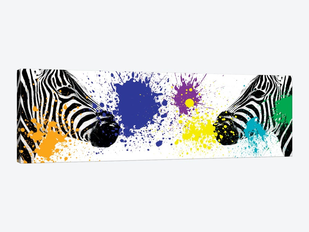 Safari Color Pop Series: Zebras Face to Face III by Philippe Hugonnard 1-piece Canvas Art Print