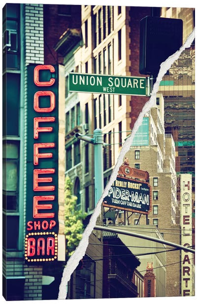Dual Torn Series - New York Atmosphere Canvas Art Print