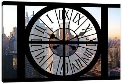 Clock Window Series: Manhattan Sunset Canvas Art Print