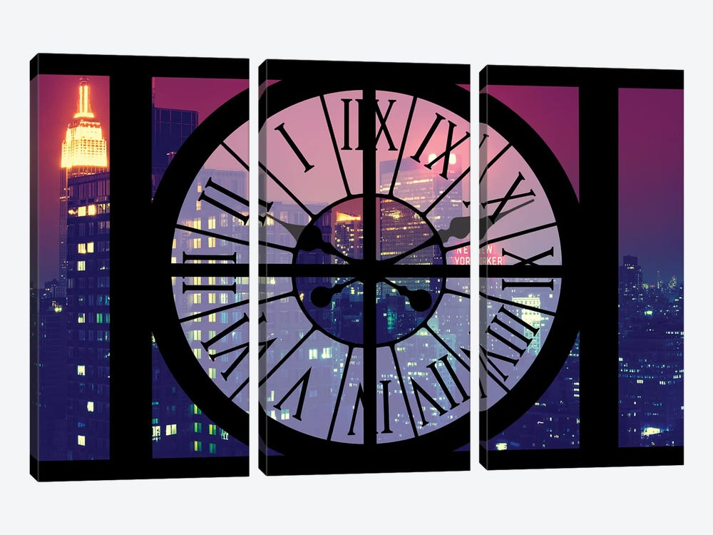 Manhattan By Night by Philippe Hugonnard 3-piece Canvas Art