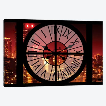 NYC Red Night Canvas Print #PHD267} by Philippe Hugonnard Canvas Print