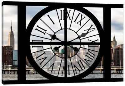Clock Window Series: Manhattan View Canvas Art Print