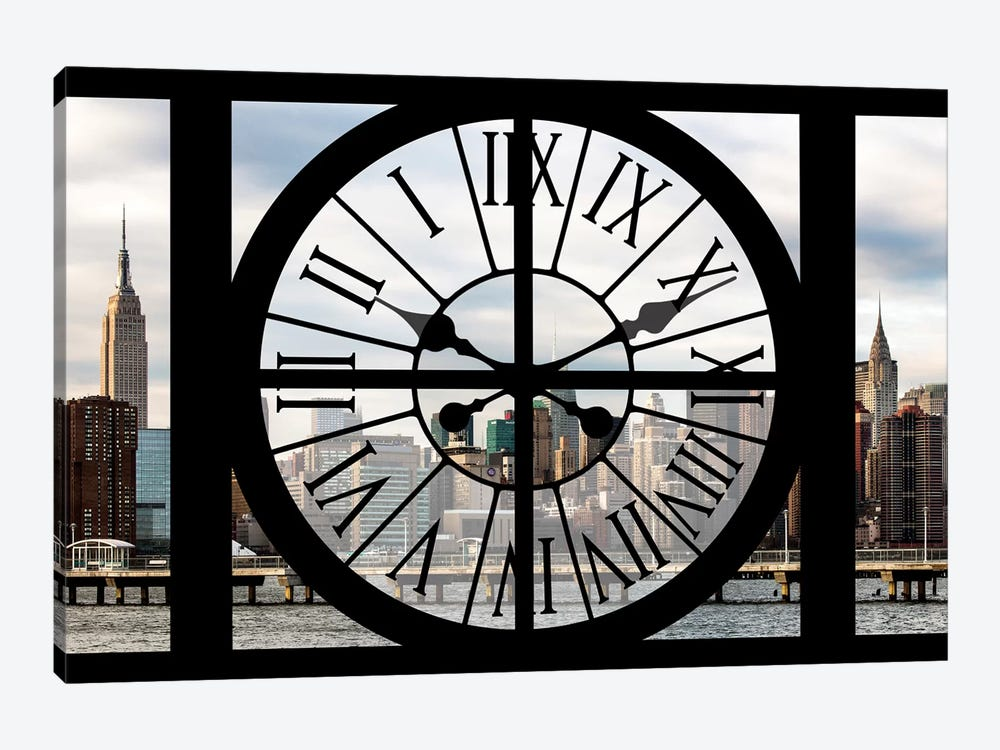 Clock Window Series: Manhattan View 1-piece Art Print