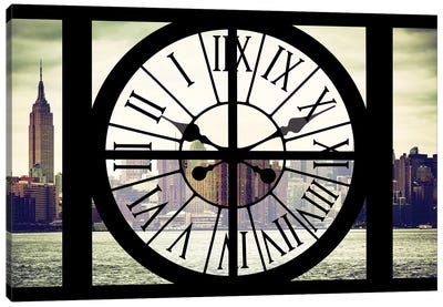 Clock Window Series: New York View Canvas Art Print