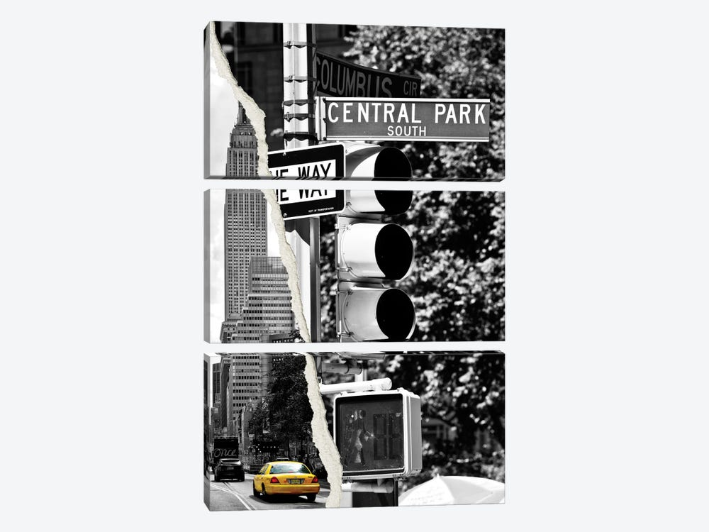 New York City by Philippe Hugonnard 3-piece Canvas Wall Art