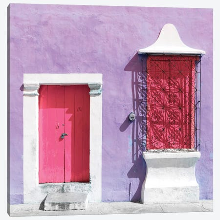 """172 Street"" Pink & Mauve Canvas Print #PHD271} by Philippe Hugonnard Canvas Print"