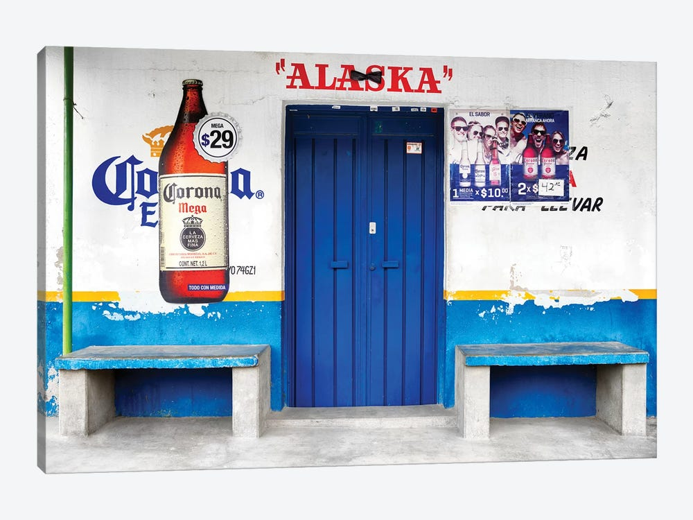 """Alaska"" Blue Bar by Philippe Hugonnard 1-piece Canvas Art"