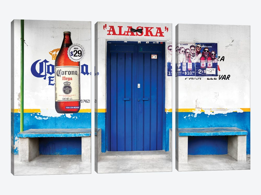 """Alaska"" Blue Bar by Philippe Hugonnard 3-piece Canvas Art"