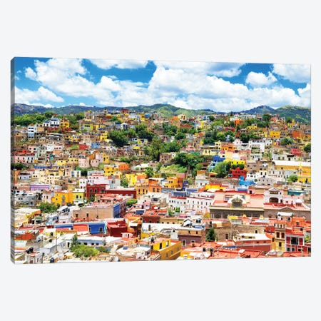 Cityscape Of Guanajuato Canvas Print #PHD273} by Philippe Hugonnard Canvas Art Print