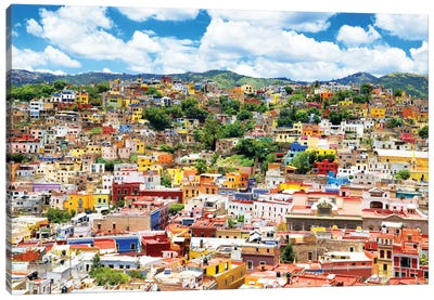 ¡Viva Mexico! Series: Cityscape Of Guanajuato Canvas Print #PHD273