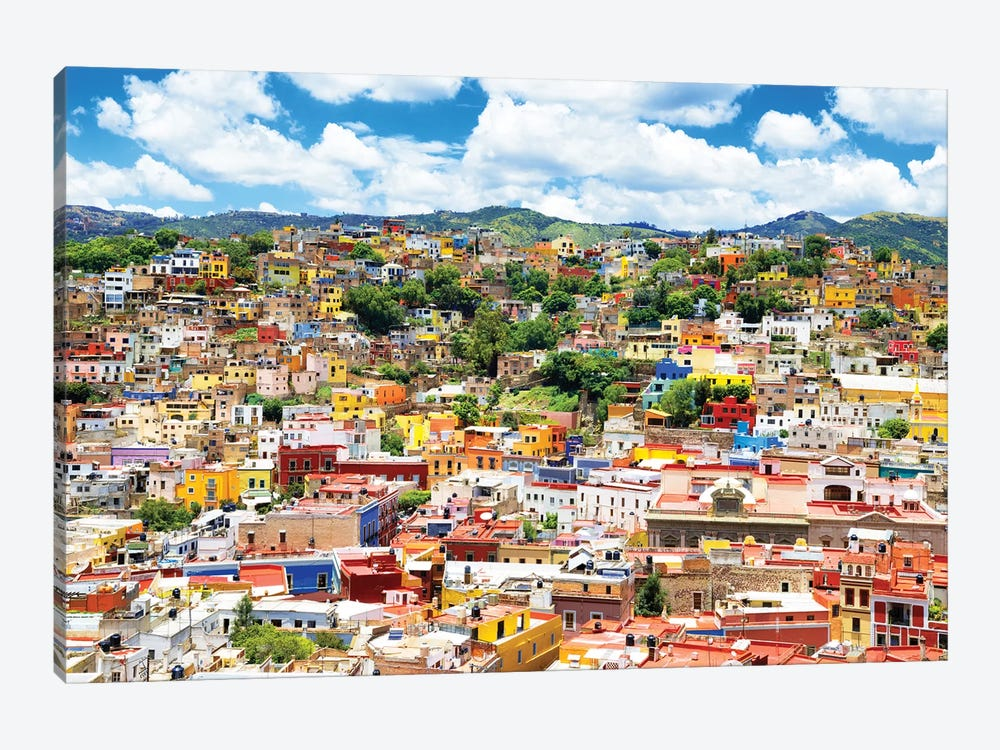 Cityscape Of Guanajuato by Philippe Hugonnard 1-piece Canvas Art Print