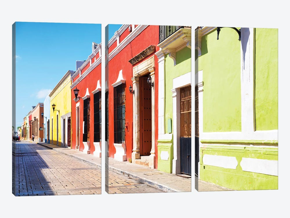 Color Street by Philippe Hugonnard 3-piece Canvas Art