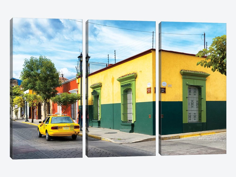 Colorful Mexican Street by Philippe Hugonnard 3-piece Canvas Art