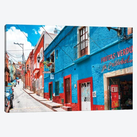 Colorful Street Canvas Print #PHD277} by Philippe Hugonnard Canvas Artwork