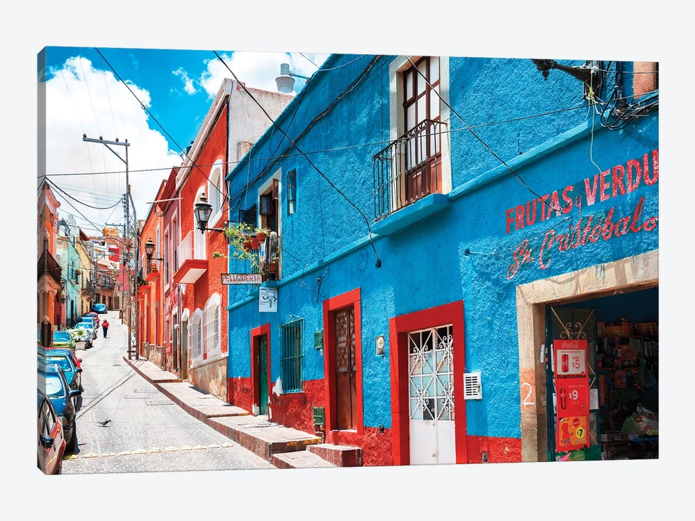 Colorful Street by Philippe Hugonnard 1-piece Canvas Art Print