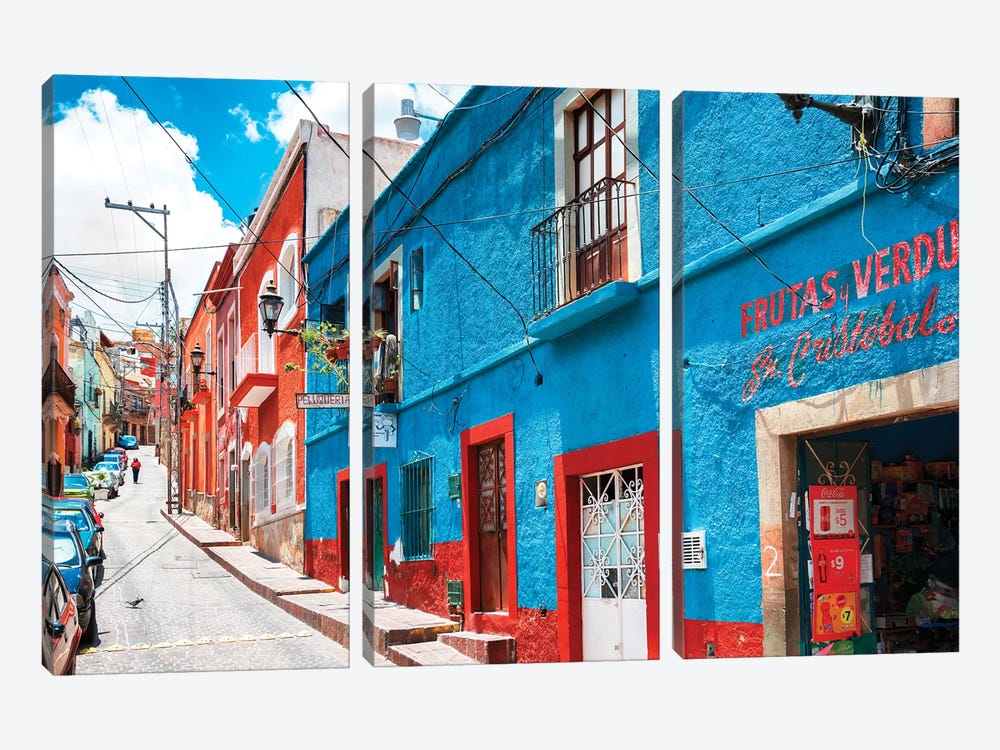 Colorful Street by Philippe Hugonnard 3-piece Canvas Art Print
