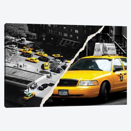 New York Taxis Canvas Print #PHD27} by Philippe Hugonnard Art Print
