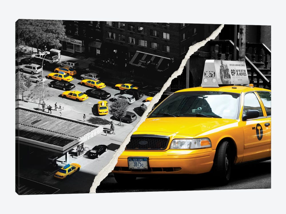 New York Taxis by Philippe Hugonnard 1-piece Canvas Print