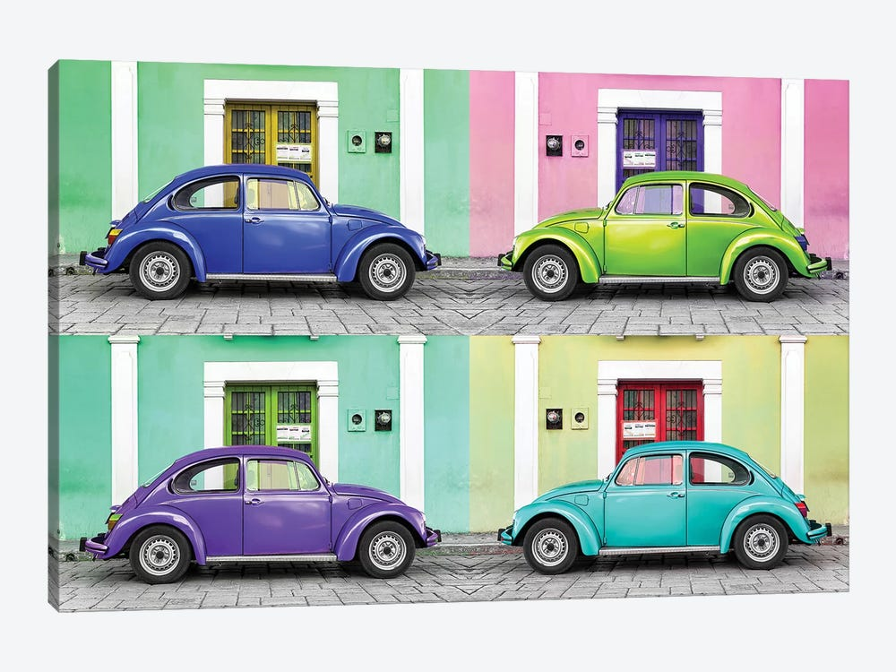 Four VW Beetle Cars I by Philippe Hugonnard 1-piece Canvas Artwork