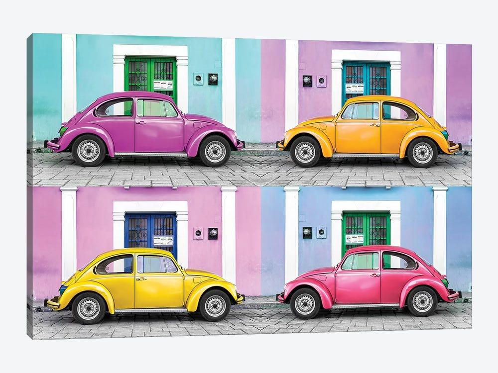 Four VW Beetle Cars II by Philippe Hugonnard 1-piece Art Print