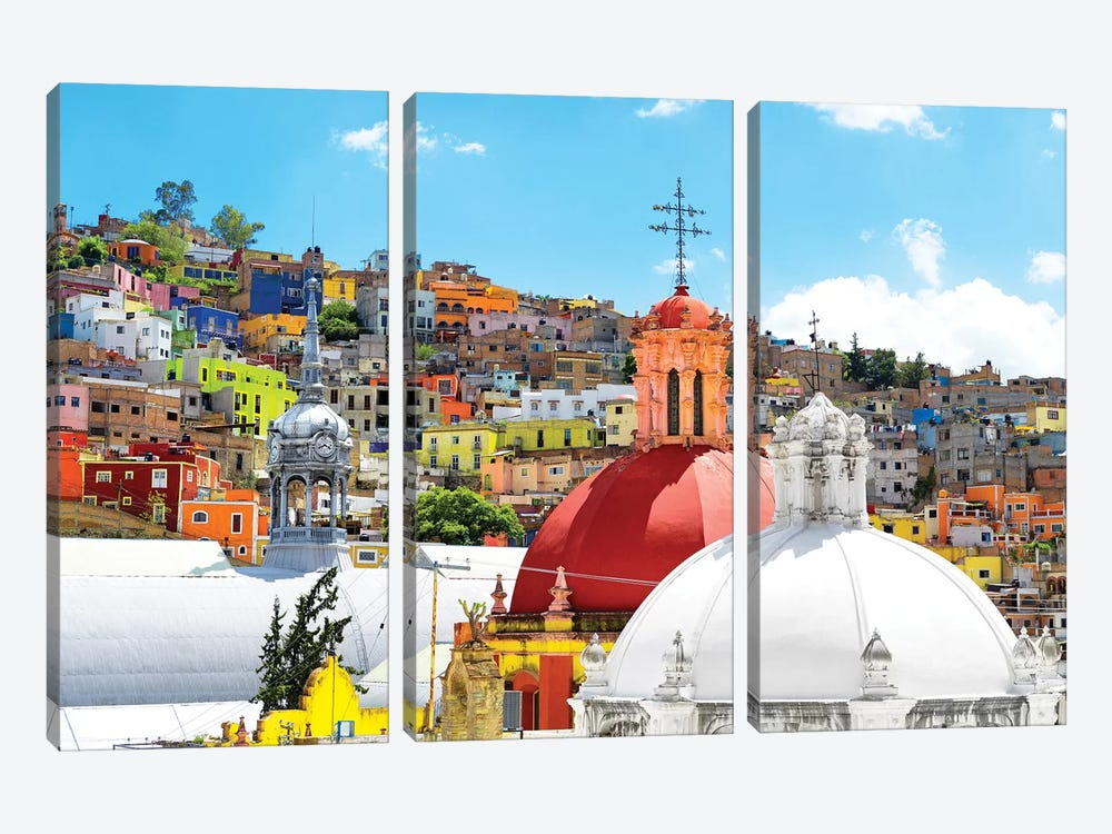 Guanajuato by Philippe Hugonnard 3-piece Canvas Wall Art