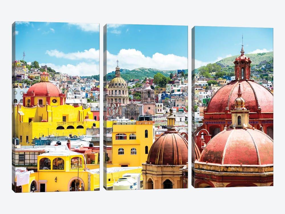 Guanajuato Architecture by Philippe Hugonnard 3-piece Canvas Print