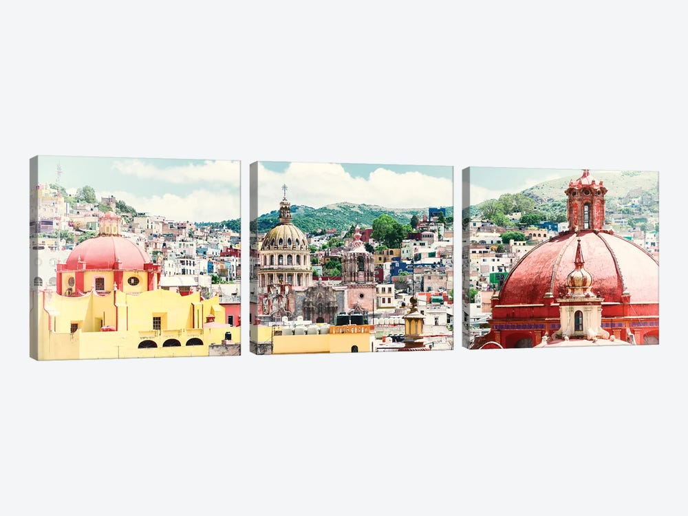 Guanajuato Cityscape by Philippe Hugonnard 3-piece Canvas Wall Art