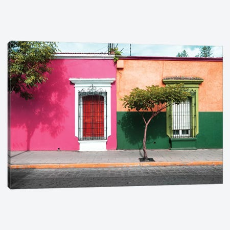 Mexican Colorful Facades Canvas Print #PHD286} by Philippe Hugonnard Art Print