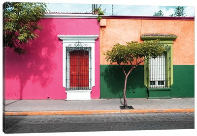 Mexican Colorful Facades Canvas Art Print