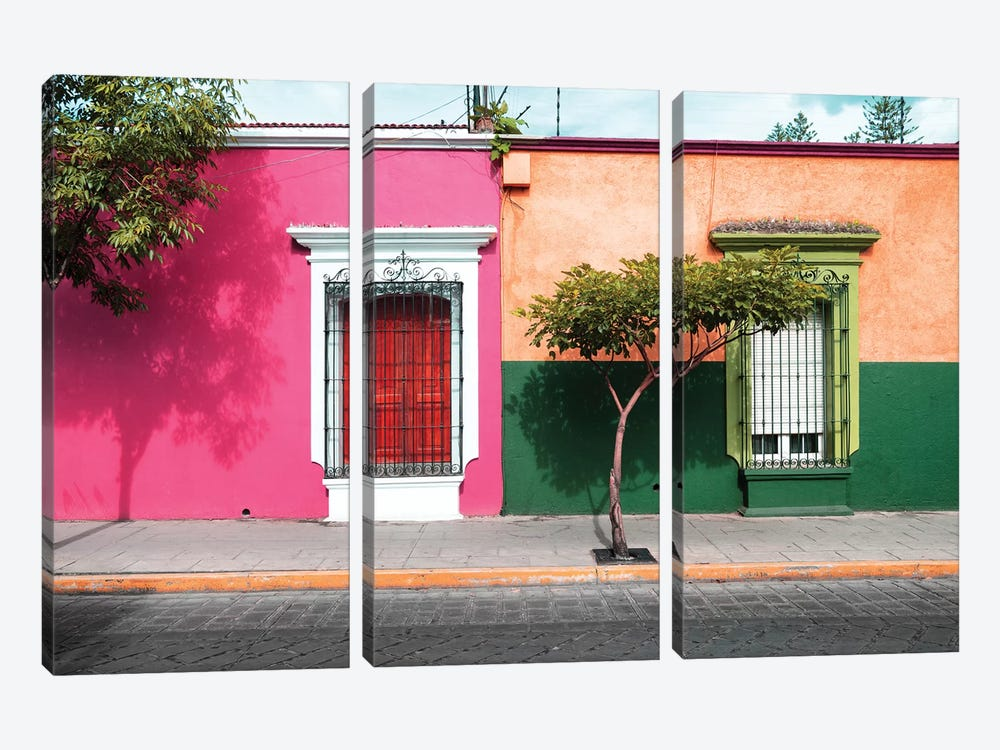 Mexican Colorful Facades by Philippe Hugonnard 3-piece Canvas Art Print