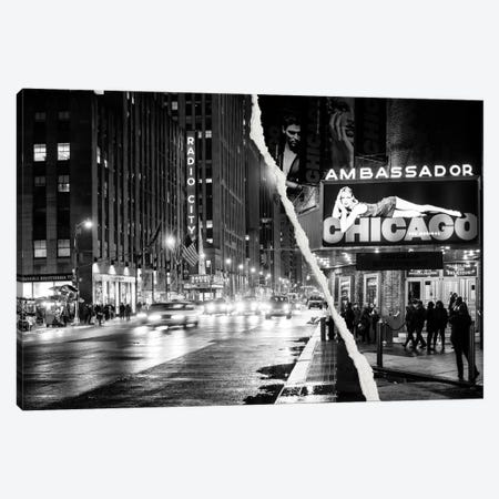 Nightlife in Manhattan Canvas Print #PHD28} by Philippe Hugonnard Canvas Art