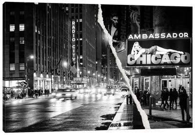 Nightlife in Manhattan Canvas Art Print