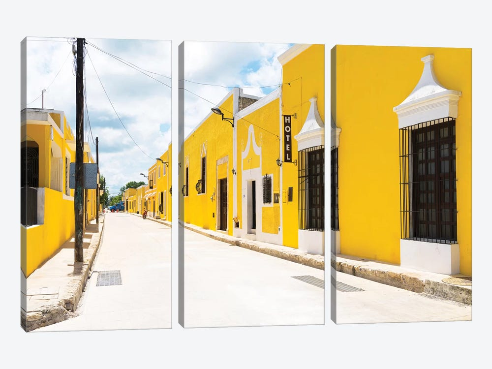 The Yellow City by Philippe Hugonnard 3-piece Canvas Artwork