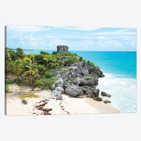 Tulum Ruins Canvas Print #PHD295} by Philippe Hugonnard Canvas Art