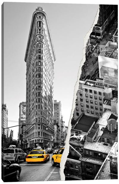 Dual Torn Series - NYC Buildings Canvas Art Print