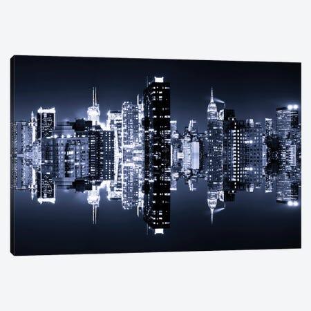 Manhattan Skyline - Blue Night Canvas Print #PHD2} by Philippe Hugonnard Canvas Art