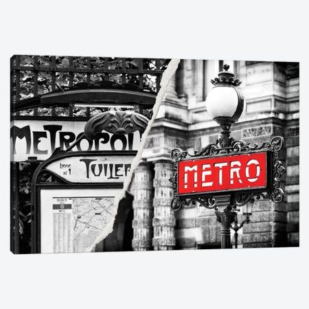Paris Metro Canvas Print #PHD31} by Philippe Hugonnard Canvas Art Print