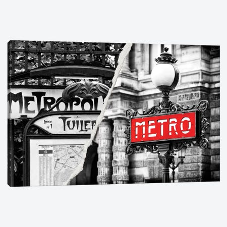 Paris Metro Canvas Print #PHD31} by Philippe Hugonnard Canvas Art Print