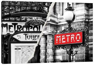 Paris Metro Canvas Art Print