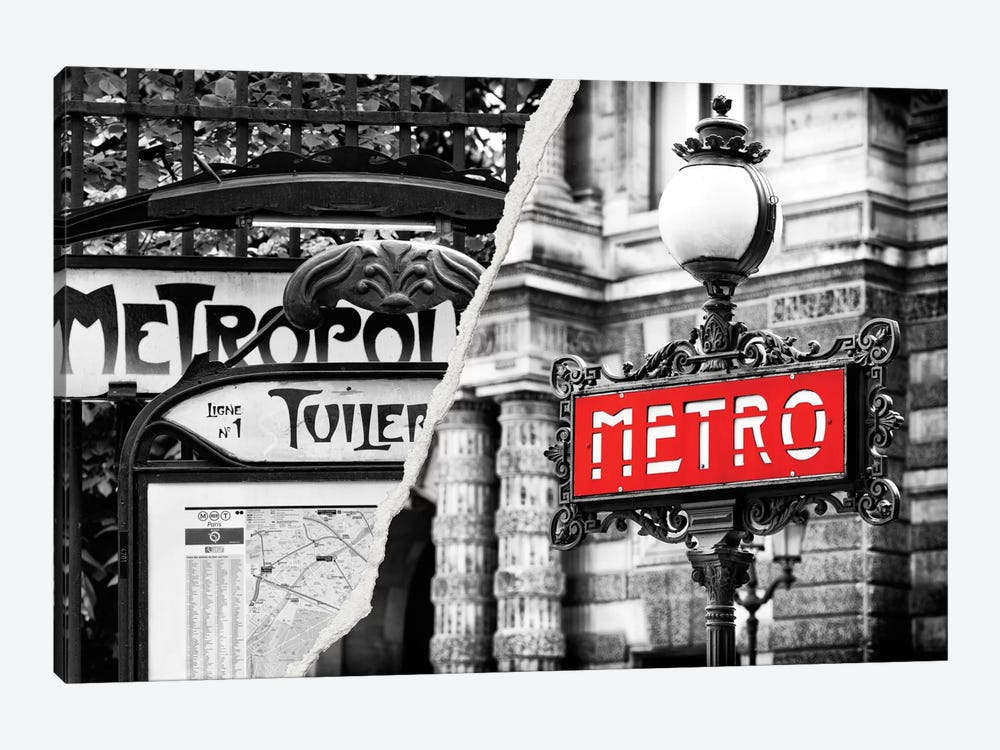 Paris Metro by Philippe Hugonnard 1-piece Canvas Wall Art