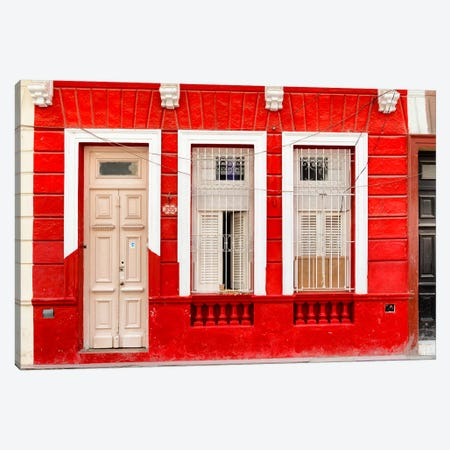 355 Street - Red Facade Canvas Print #PHD328} by Philippe Hugonnard Canvas Art Print