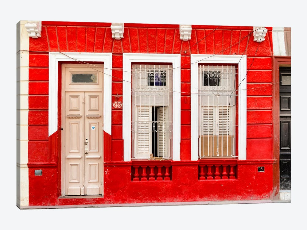 355 Street - Red Facade by Philippe Hugonnard 1-piece Canvas Artwork